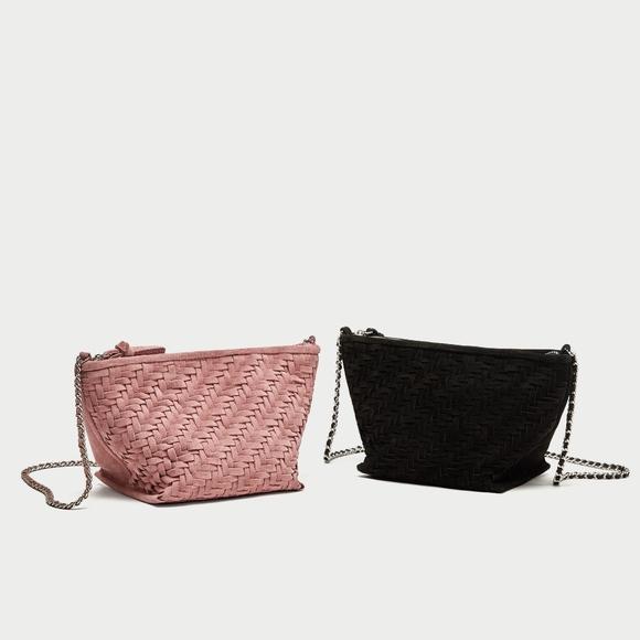 3df1c2770a Zara Bags | Split Suede Crossbody Bag Black | Poshmark